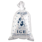 Inteplast Ice Bg 10 Lb Penguin Logo w/ Twist Ties 1000