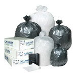 Inteplast High Density Black Flat-Bottom Trash Bags, Case of 200