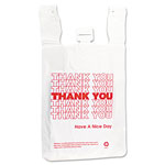 "Inteplast THW2VAL Plastic 1/6 Thank You T-Sack, 12"" x 7"" x 13"""