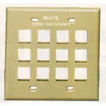 ICC 12 Port Faceplate, White