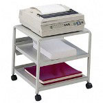 "Iceberg Mobile Printer Stand, 21""W x 16""D x 19""H, Platinum"