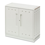 Iceberg SnapEase Storage Cabinet, Resin, 36w x 16d x 35h, Platinum