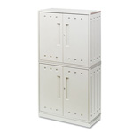 Iceberg SnapEase Storage Cabinet, Resin, 36w x 16d x 70h, Platinum