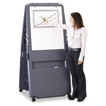 Iceberg Mobile Presentation Flipchart Easel, 33w x 28d x 73h, Charcoal Gray