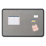 Iceberg Fabric Bulletin Board, 48 x 36, Gray with Black Polyethylene Frame