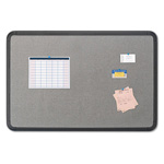 Iceberg Fabric Bulletin Board, 66 x 44, Gray with Black Polyethylene Frame