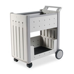 Iceberg Resinite® Mail Cart, 21w x 38 1/2d x 42h, Platinum