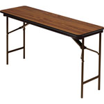 Iceberg Premium Wood Laminate Folding Table, 18 x 72, Oak