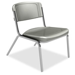 Iceberg Rough `n` Ready Big & Tall Stacking Chair, Charcoal, Four/carton