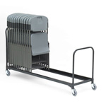 "Iceberg Rough ""N"" Ready Folding Chair Cart, 37 Chair Capacity, 8 ft. Length"