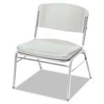 Iceberg Rough N Ready Series Big & Tall Stack Chair, Platinum/Silver, 4/Carton