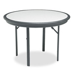 "Iceberg Indestruc Tables 42"" Round Folding Table, Granite Finish Top"