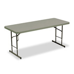 "Iceberg Adjustable Height Folding Table, 72"" x 30"", Charcoal, Each"