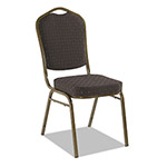 Iceberg Banquet Chairs with Crown Back, Black/Gold, 4/Carton