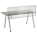 Iceberg OfficeWorks Freestyle Table Privacy Panel, 57w x 1d x 20h, Clear
