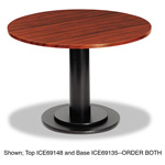 "Iceberg Round Conference Room Table Top, 42"" Diameter, Mahogany"