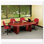 "Iceberg Oval Bullnose Conference Room Table Top, 120"" Wide, Mahogany"