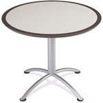 Iceberg iLand Table, Dura Edge, Round Seated Style, 36 dia x 29h, Gray/Silver