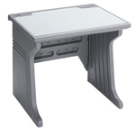 Iceberg Aspira Workstation, Charcoal with Reversible Inlay Top, 34wx28dx30h