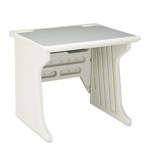 Iceberg Aspira Workstation, Platinum with Reversible Inlay Top, 34wx28dx30h