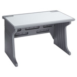 Iceberg Aspira Workstation, Charcoal with Reversible Inlay Top, 48wx28dx30h
