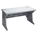 Iceberg Aspira Workstation, Charcoal with Reversible Inlay Top, 60wx28dx30h