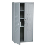 "Iceberg OfficeWorks Storage Cabinet, 66""-High, 33"" x 18"", Dark Gray"