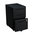 Iceberg Aspira Underdesk Mobile Pedestal File, 2 Box/1 File Drawer, Black