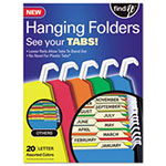 Ideastream Hanging File Folders with Innovative Top Rail, Letter, Assorted, 25/Bx