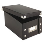 Ideastream 4 x 6 Collapsible Index Card File Box, 1,100 Card Capacity, Black