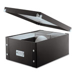 Ideastream Black Leather Like CD Storage Box