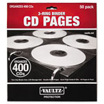 Ideastream Two-Sided CD Refill Pages for Three-Ring Binder, 50/Pack