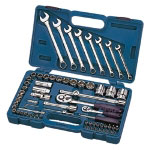 "Industro 68 Piece 1/4"" and 1/2"" Drive Socket and Wrench Set"