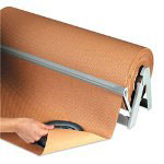 "Box Partners 24"" 60# Basis Weight Indented Kraft Paper"