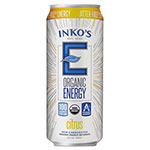 Inko's Organic Energy Beverage, Citrus, 15.5 oz Can, 12/Carton