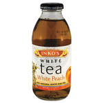 Inko's Ready-To-Drink White Peach White Tea, 16 oz Bottle, 12 per Carton