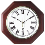 "Chicago Lighthouse 12"" Octagon Mahogany Quartz Clock, White Dial"