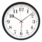 "Chicago Lighthouse Atomic Slimline Contemporary Clock, 16 1/2"", Black"