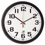 "Chicago Lighthouse Bold Quartz Contract Clock, 13-3/4"", Black"
