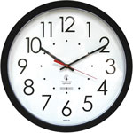 Chicago Lighthouse Contemporary SelfSet Clock, 14-1/2in, Black, 1 AA Battery
