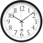 "Chicago Lighthouse SelfSet Wall Clock, 14 1/2"", Black"