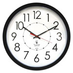 "Chicago Lighthouse Electric Clock, 14-1/2"", 5' Cord, Black Frame/White Dail"