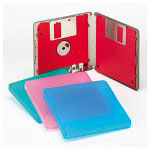 "Innovera 3.5"" Double Diskette Case, Translucent Polypropylene, 4 Cases/Pack"
