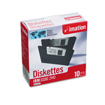 "Imation 3.5"" Diskettes, IBM Format, DS/HD, 10/Box"