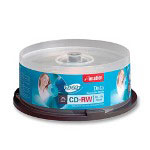 Imation CD RW Rewritable Discs, 650MB/74Min, 24x, Branded Surface, Silver, 25/Pack