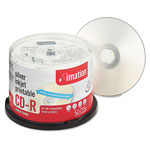 Imation CD R Discs, 700MB, 80 Minutes, 52x, Inkjet Printable, Silver, 50/Spindle Pack