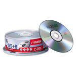 Imation DVD+R Recordable Discs on Spindle, 4.7 GB, Silver, 25/Pack