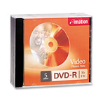 Imation DVD R, 4.7GB, 5 Disks/Pack, Silver