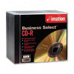 Imation CD Recordable Discs, 52x, 700MB/80Min, Business Select™, Jewel Case, Gold, 10/Pack