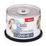 Imation DVD+R, forcefield Scratch-Resistant Coating, 4.7GB, 16X, Silver